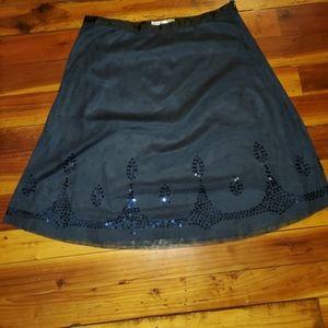 Vintage Navy sequined skirt